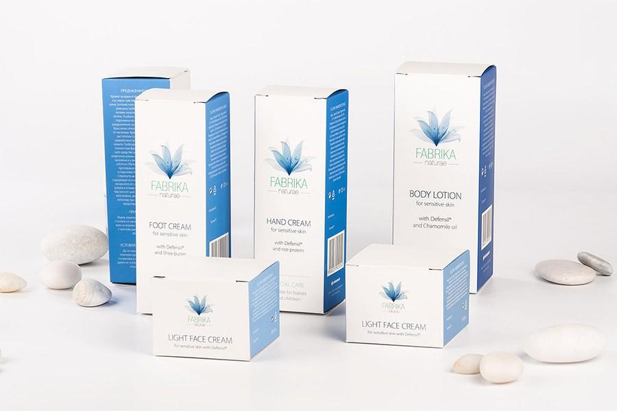 Дизайн на опаковки за козметика Fabrika