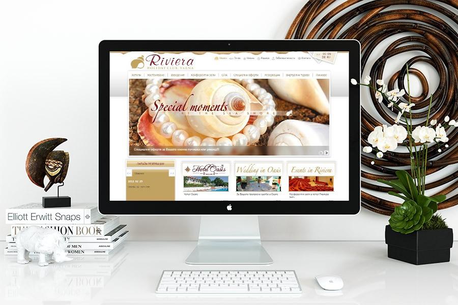 Уеб сайт за ваканционен клуб Ривиера